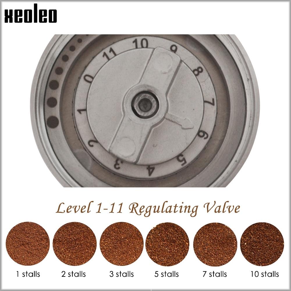 XEOLEO Manual Coffee grinder 45MM Aluminum Coffee miller Black/Brown/Silver/Gold 15g Mini Portable Coffee milling machine 5