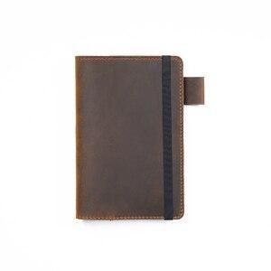 Image 5 - Feld Notizen Abdeckung Tägliche Tragen Memo Buch Echtem Leder Notebook Planer Karte halter Tasche Vintage Schreibwaren