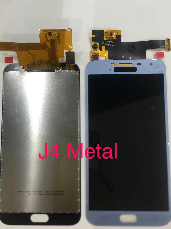 LCD de hierro de 5/10 piezas para Samsung Galaxy J4 2018 J400 J400F J400H J400G J400P Ajuste de pantalla LCD + conjunto de digitalizador de pantalla táctil