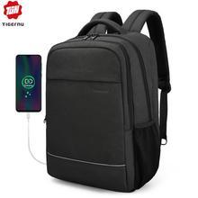 Tigernu עסקי זכר תרמיל פנאי אנטי גניבה 15.6 אינץ מחשב נייד תרמיל USB טעינה שקיות מכללת בית ספר שקית מתנת נשים