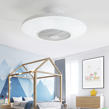 50cm ceiling fan with light remotre control 110v 220v children bedroom home restaurant fan lamp 40w 3color changing fan lamp image
