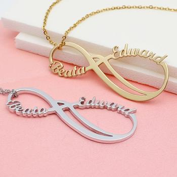 Infinity Name Necklace,Personalized Infinity Necklace,Two Names Infinity Pendant,Custom Necklace,Gift For Her personalized infinity necklace two name necklace silver infinity name necklace love has no end love jewelry christmas gift