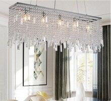 עכשווי מודרני יוקרה LED K9 קריסטל תאורת נברשת תליית אורות/מנורות עבור וילה אוכל חדר ומלון קישוט