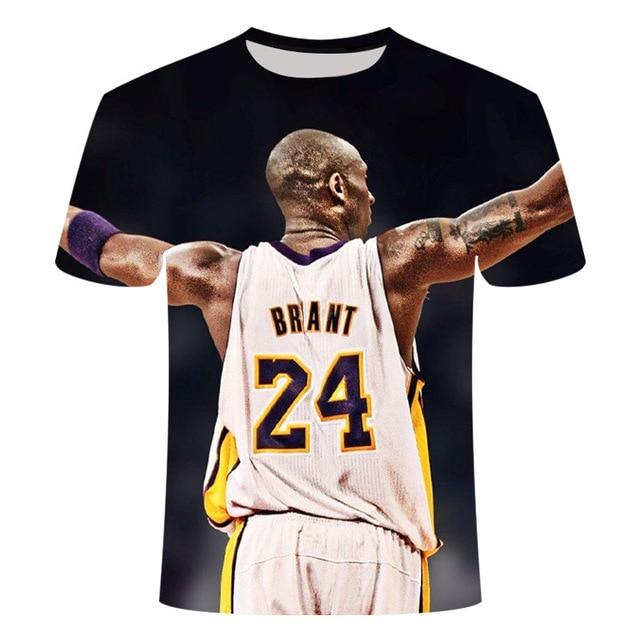 3D Printed Kobe Bryant T-shirt 8