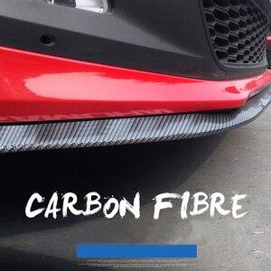 Image 2 - 2.5m zderzak samochodu Lip Strip Protectors Splitter Body zestawy Spoiler zderzaki drzwi samochodu zderzak z włókna węglowego gumowa warga 65mm szerokość taśmy