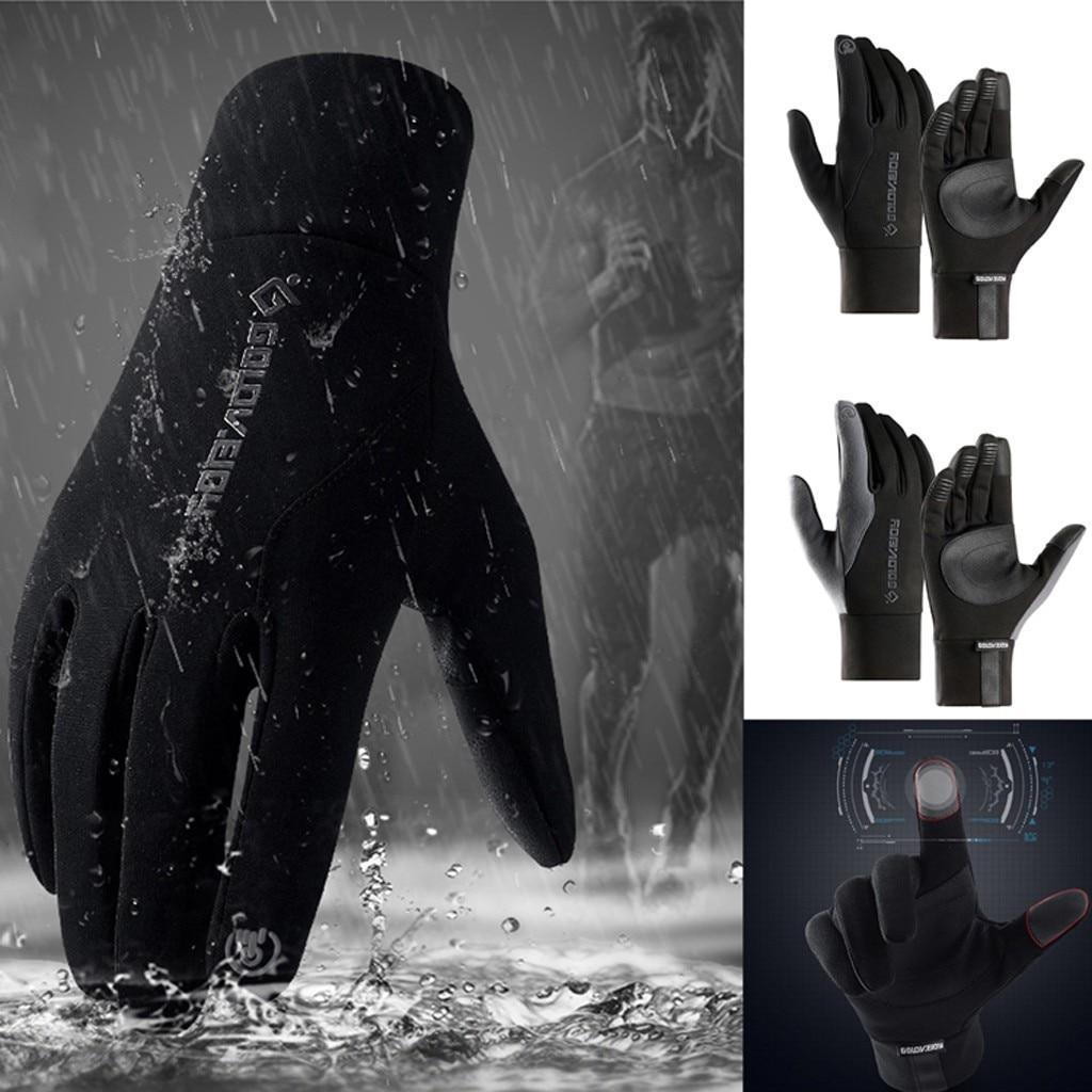 Touch Screen Windproof Waterproof Winter Warm Gloves Winter Outdoor Unisex Anti-slip Thick Mittens Glove Motorcycle #4