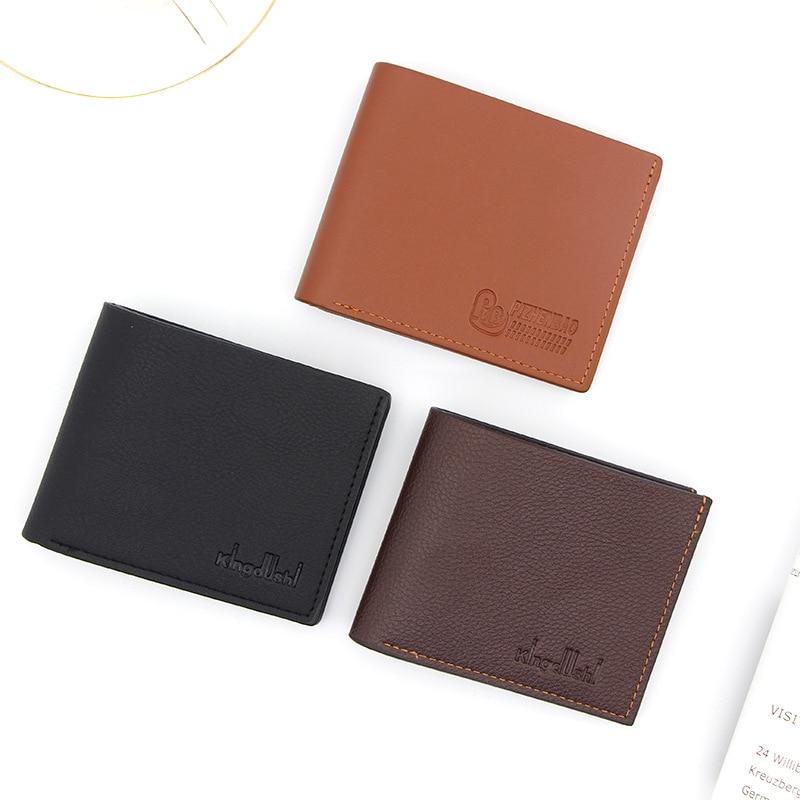 Sale Low Price Men Women's Short Slim Wallets Male Leather Mini Wallet Card Holder Fashion Purse  Luxury Designer Money Wallet