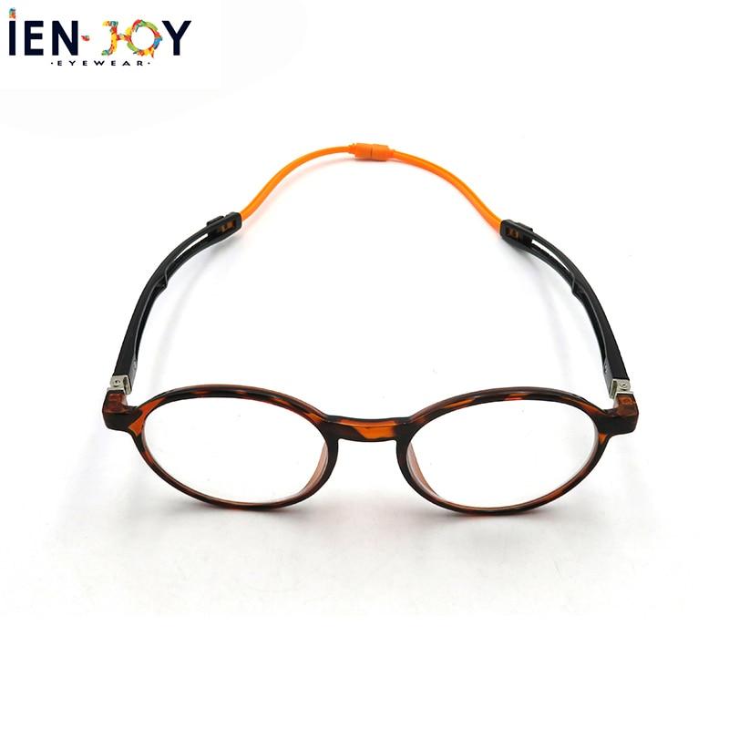 IENJOY Blue Light Blocking Glasses Magnetic Reading Glasses Portable Hanging Neck Reading Glasses Round Glasses Men Eyewear +1.5