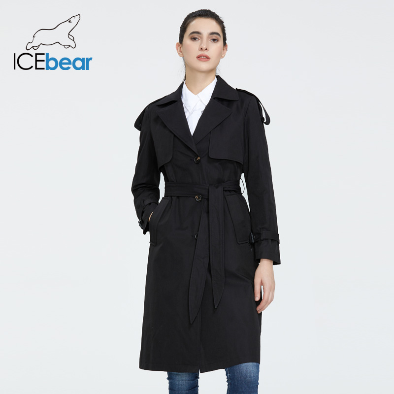 ICEbear 2020 Women's Spring Windbreaker High-quality Women's Hooded  Fashion Women Clothing Brand Apparel GWF20029D