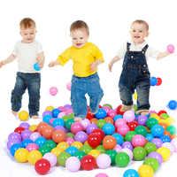 100 pcs/lot Umweltfreundliche Bunte Ball Weichem Kunststoff Ozean Ball Lustige Baby-Kind-Schwimmen Pit Spielzeug Wasser Pool Ozean welle Ball Dia 4cm
