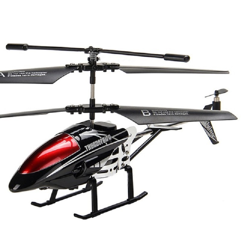 RCtown Helicopter 3.5 CH Radio Control Helicopter with LED Light Rc Helicopter Children Gift Shatterproof Flying Toys Model