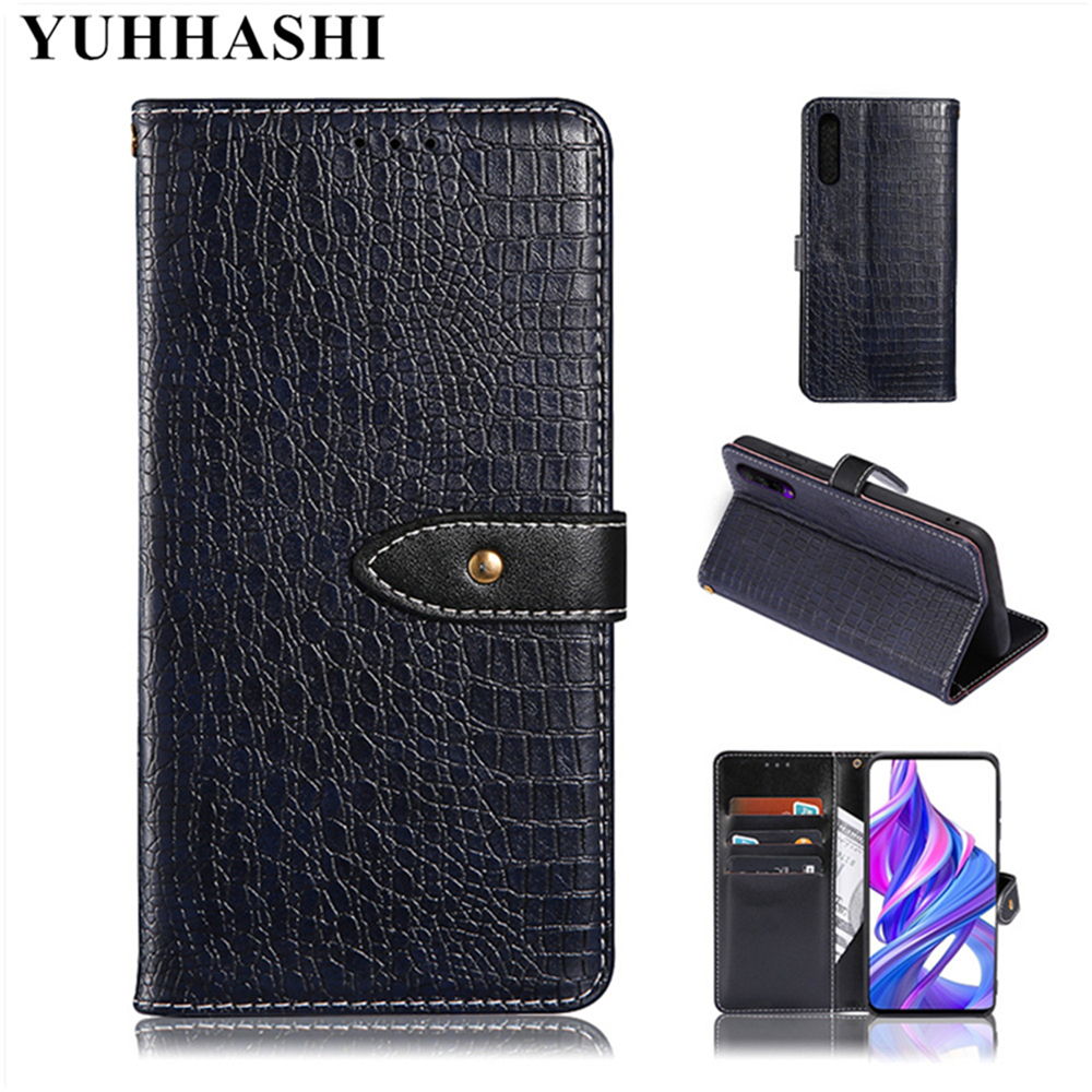 Luxury Crocodile veins leather flip phone case for Huawei Honor V10 with magnetic wallet phone cover for Huawei Honor V10 Coque image