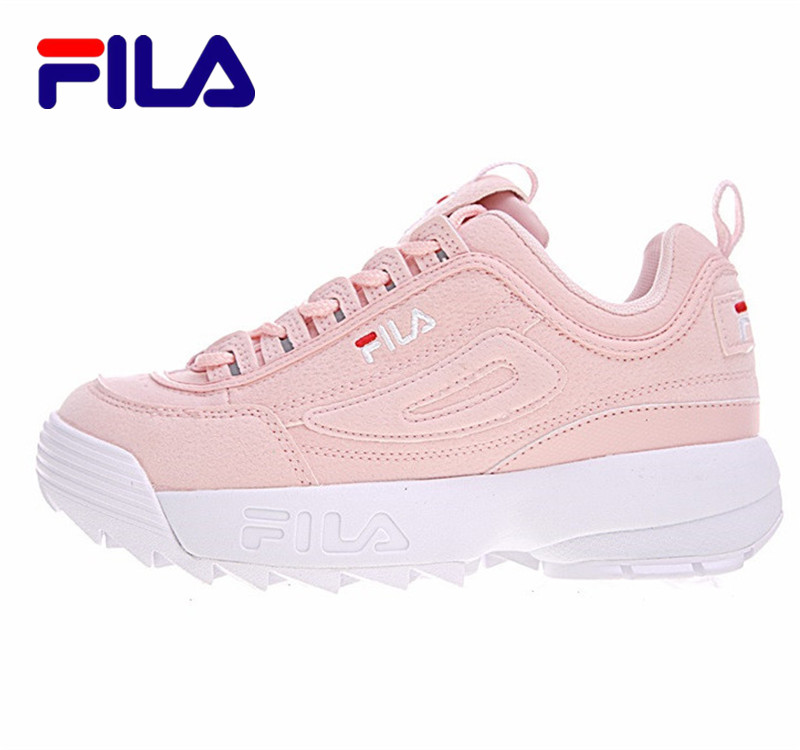 2018 FILA Disruptor II 2 Fila Shoes Women Running Shoes FW0165-039 Air Zoom Lifestyle Outdoor Fila Shoes 2colors Size 36-41