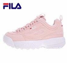 2018 FILA Disruptor II 2 fila shoes Women Running Shoes FW0165-039 air zoom lifestyle Outdoor fila shoes 2colors size 36-41 комплект fila fila fi030emifiu4