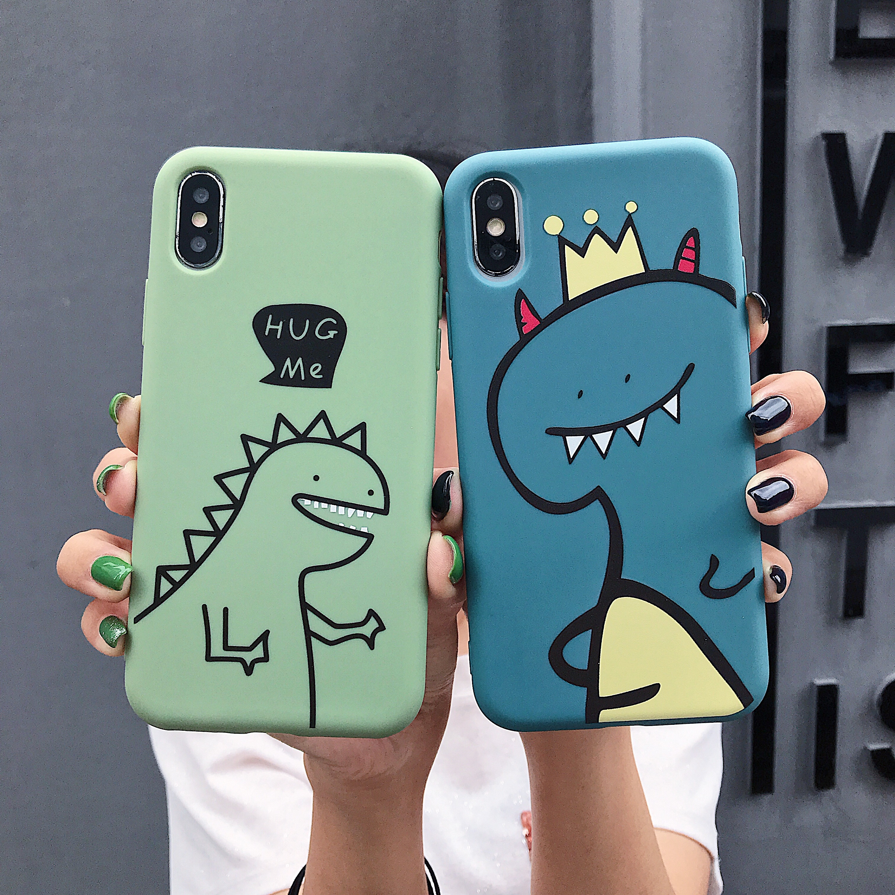 Fashion Cartoon Cute Dinosaur Cover Case For iPhone X XS Max XR 7 8 Plus 6 6S Plus 11 Pro Max Silicone soft shell Cover Case