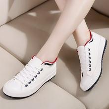 Женские кроссовки; Парусиновая обувь на плоской подошве; Белые