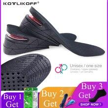 KOTLIKOFF 3-7cm Height Increase Insole Cushion Height Lift Adjustable Cut Shoe Heel Insert Taller Women Men Unisex Foot Pads