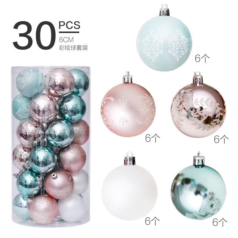 6cm30pcs Hot Christmas Balls Christmas Decorations For Home Rose Gold Colored Set Christmas Tree Pendant Adornos De Navidad Ball Ornaments Aliexpress