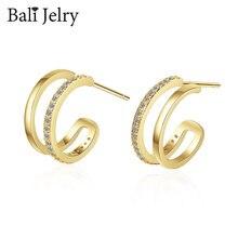 Бали jelry модные очаровательные серьги для женщин серебро 925