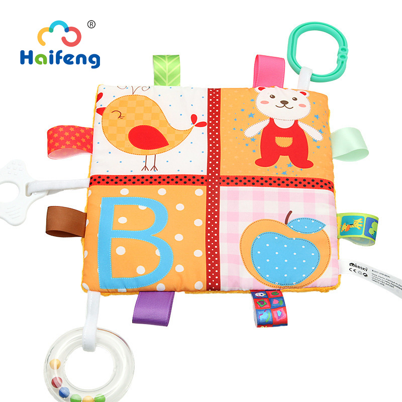 Safety Colorful 13 24 months Baby Toys Appease Towel Comforting Soothe Baby Teether Gift For Appease Baby Infant