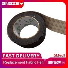 5M/Roll Verbruiksartikelen Auto Vinyl Film Wrap Zuigmond 5Cm Vilt Rand Zwarte Doek 3M Zuigmond Spare vilt Voor Car Wrapping Schraper A08 5M