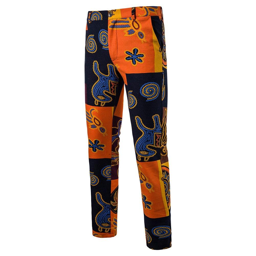 Мужская Мода Национальный Ветер Повседневное модные Для мужчин Блейзер Для мужчин s Брюки - Цвет: 11