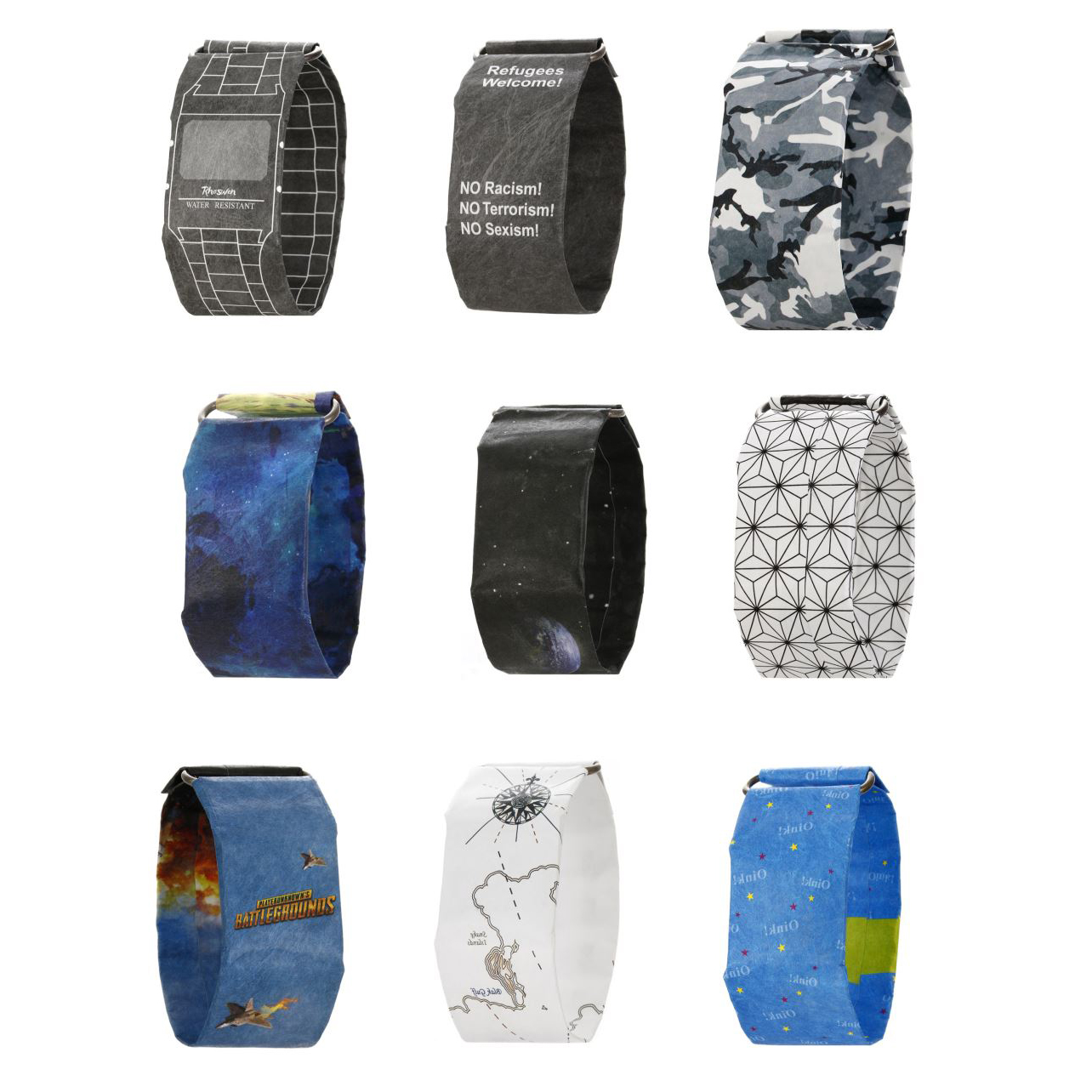 Digital Watch Clock Paper Waterproof Men LED Reloj Fashion Electronic Creative Men's title=