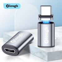 Elough-adaptador OTG USB tipo C para iPhone 11, Macbook, Huawei, Xiaomi, Redmi, conector magnético OTG