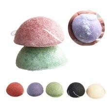 Esponja konjac 4 unidades, esfoliador natural konjac konnyaku puff rosto lavagem esponja de limpeza maquiagem konjac