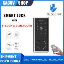 TTLock Door Smart Electric Lock TT Lock Bluetooth Wifi Passcode Rfid Card Keyless Front Electronic Lock Alexa google smart home