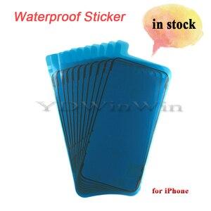 Image 1 - 100 adet su geçirmez Sticker iPhone 6s 6s artı 7 artı 8 8 artı X XS 11 pro max XR LCD ekran bant 3M yapıştırıcı tutkal onarım parçaları