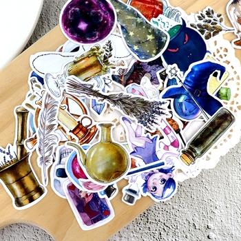 35 sztuk rysunek odręczny magiczna butelka naklejki do planowania rzemiosła Scrapbooking dekoracyjne cienki papier magik naklejki papeteria papelaria tanie i dobre opinie Bligift 35pcs 8 lat Magic sticker 2-4cm planer stickers