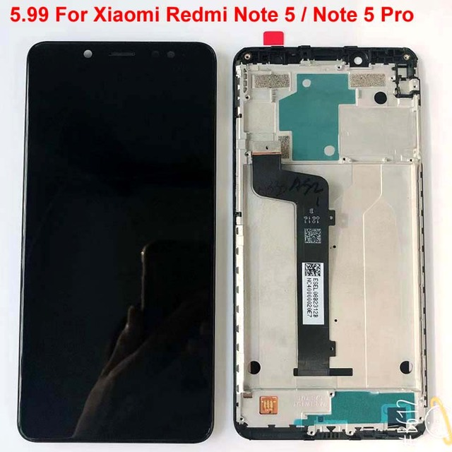 Original Best Tested AAA 5.99For Xiaomi Redmi Note 5 Pro MEG7S LCD Display 10 Point Touch Screen Digitizer Assembly with Frame