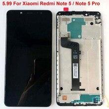 Orijinal en iyi test AAA 5.99 Xiaomi Redmi not 5 Pro MEG7S lcd ekran 10 nokta dokunmatik ekranlı sayısallaştırıcı grup çerçeve ile