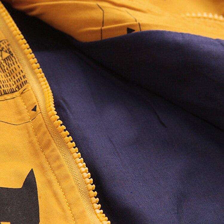Benemaker Winter Fleece Jackets For Boy Trench Children's Clothing 2-10Y Hooded Warm Outerwear Windbreaker Baby Kids Coats JH019 12