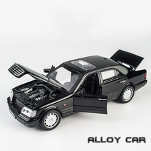 KIDAMI 1:32 Alloy Model Car AMG W140 Sound Light Pull back Toy Car Model Metal Diecast Vehicle Toys for Children Boy Gifts