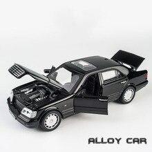KIDAMI 1:32 alliage modèle voiture AMG W140 lumière sonore tirer back jouet voiture modèle métal moulé sous pression véhicule jouets pour enfants garçon cadeaux