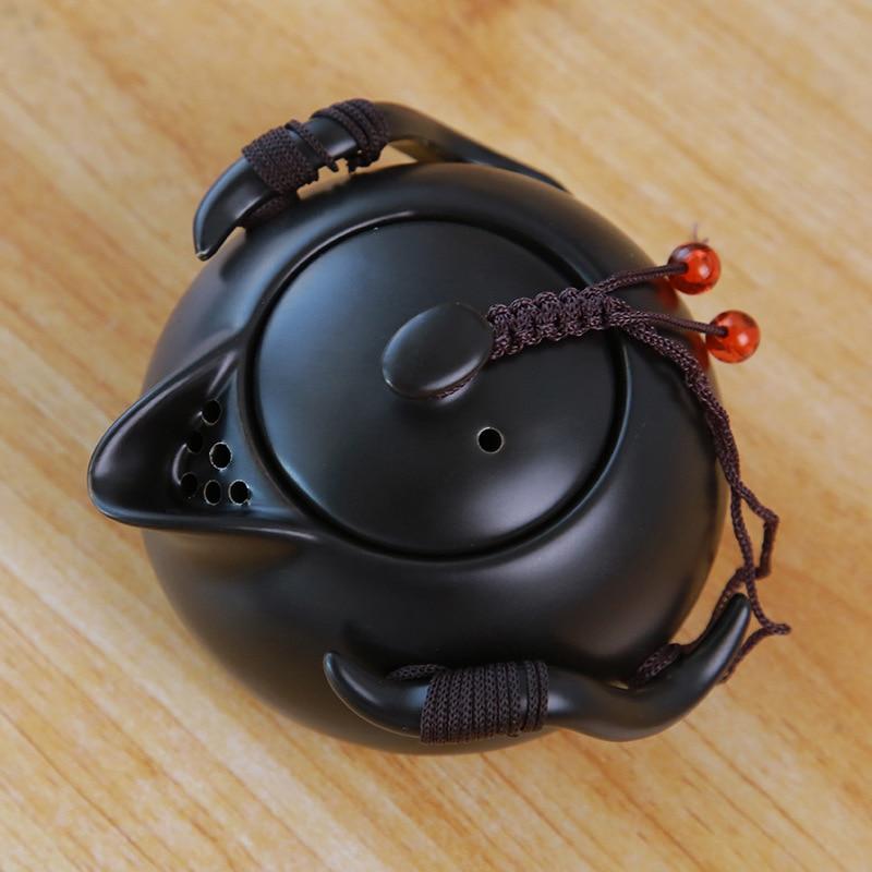Ceramic teapot kettle gaiwan Chinese Travel Ceramic tea cup for puer chinese tea pot portable tea set drinkware Free shipping 4