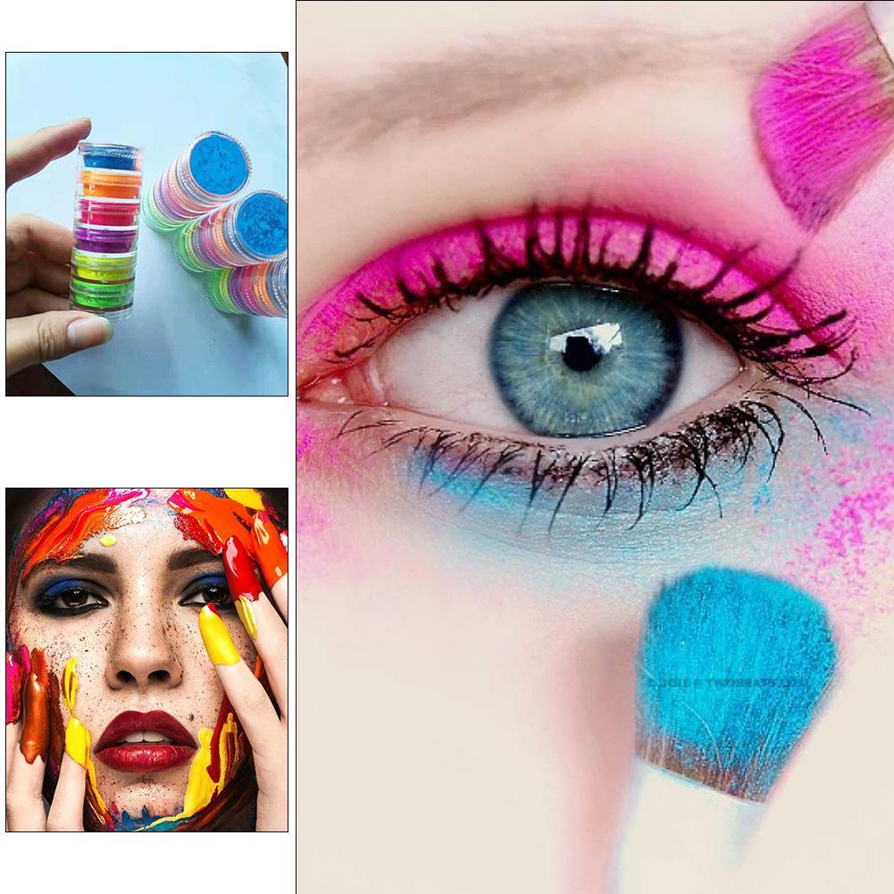 Make Up 6 Colors Lasting Shimmer Eyeshadow Pigment Matte Eyeshadow Neon Powder Nail Powder For Halloween
