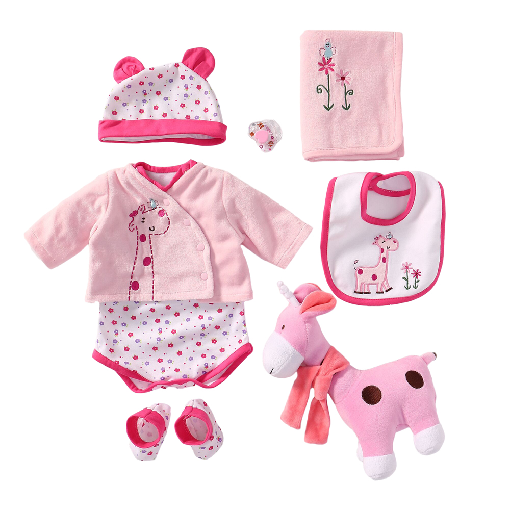 Reborn Baby Doll Accessories Outfits Clothes Set for 55-60cm Newborn Girl