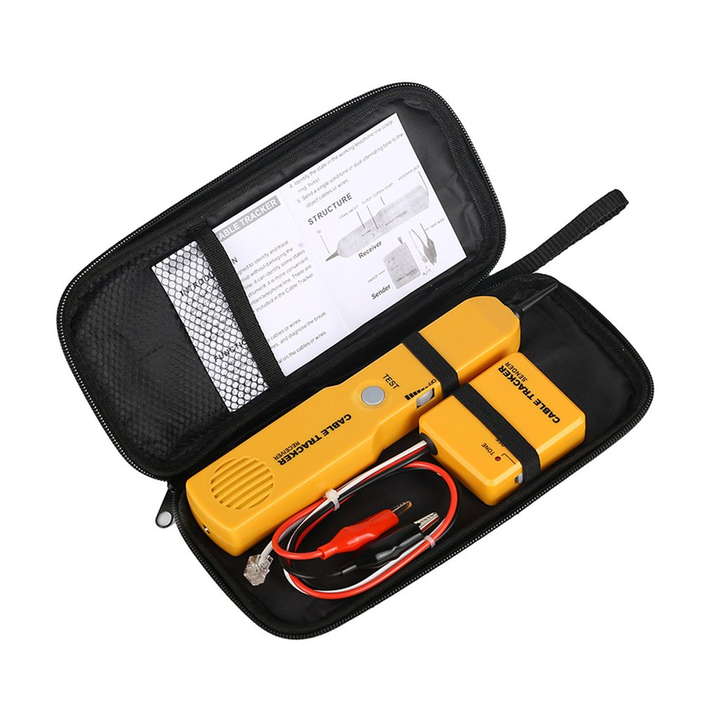 RJ11 Network Telephone Wire Cable Tester Toner Tracker Diagnose Tone Line Finder Tracer Detector Networking Tools