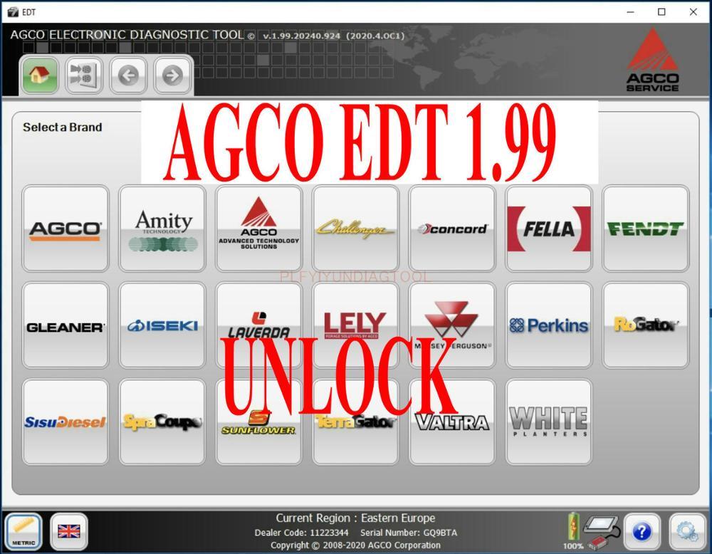 2020 neue AGCO Elektronische Diagnose Werkzeug 1,99 [2020.09] EDT + Aktivierung Für jede Interface-INSTALLIEREN UNBEGRENZTE COMPUTER