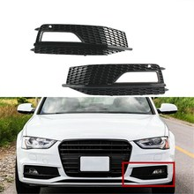 Front Bumper Lower Fog Lamp Light Grill Grille Grid for Audi S4 A4 SLine 2013-2015 8K0 807 681 L(China)