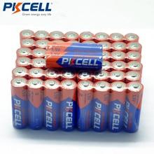 50xPKCELL LR6 AA alkalin kuru piller 1.5V E91 AM3 MN1500 için uzaktan kumanda fare saat elektronik termometre аккумулятор