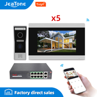 7'' Touch Screen Wireless WIFI IP Video Door Phone Intercom Video Doorbell Villa Access Control System Motion Detection 2 4 POE