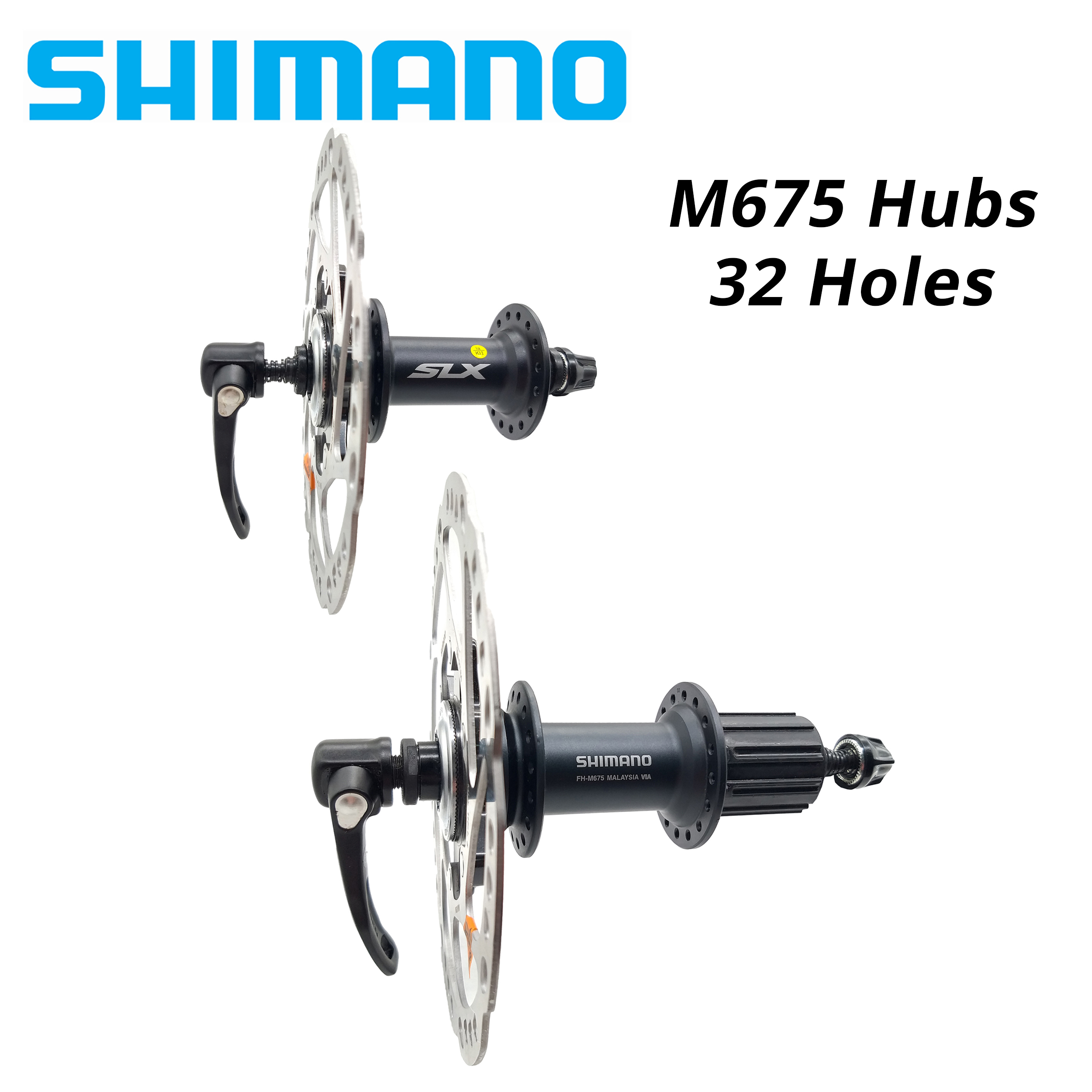 SHIMANO XT Hub Hubs Front Rear Disc 6 Bolts Center Lock 32H 36H Cycling MTB CX