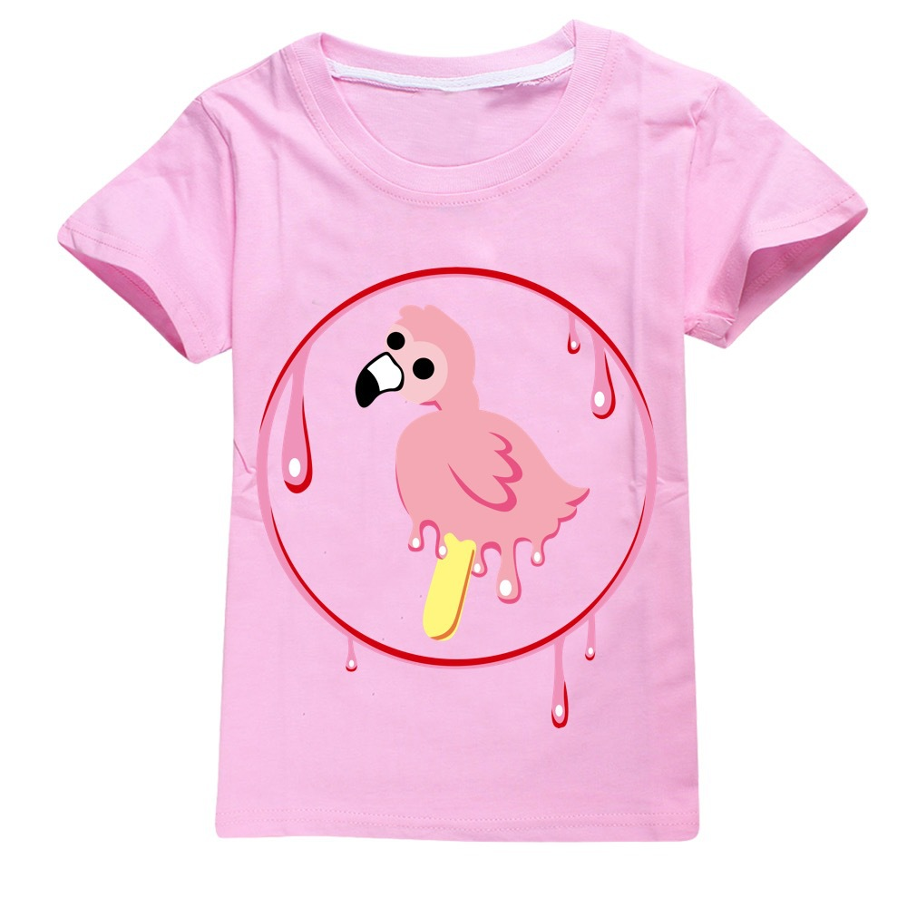 Youth Boy Tshirt Flamingo Flim Flam T-shirts for Girls Kids T Shirts Big Boys Short Sleeve Tees  Kids Summer Clothes Pink Shirt 5
