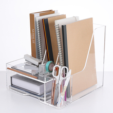 Box Magazine-Holder Plexiglass Documents-Organizer Desktop-Accessories Multi-Purpose