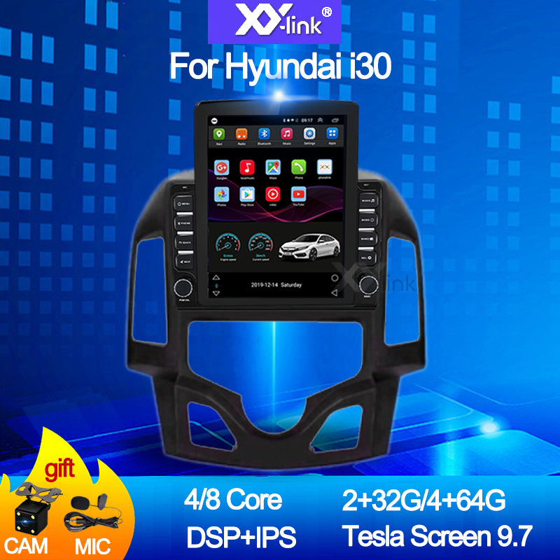 9.7 inch tesla Android 10.0 For Hyundai i30 2009-2016 IPS DSP 4G LTE Car multimedia video gps radio player stereo No 2 din DVD image
