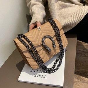 Image 1 - 高級ハンドバッグの女性のバッグデザイナーハンドバッグ高品質 2019 嚢主な新puレザークロスボディメッセンジャーバッグ女性のための
